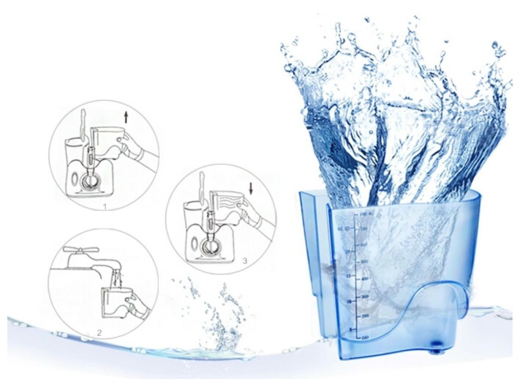 h20floss countertop dental water flosser